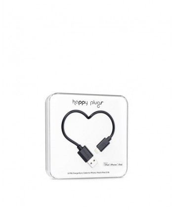 Happy Plugs Charge + Sync Cable (Black)