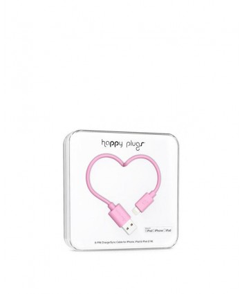 Happy Plugs Charge + Sync Cable (Pink)