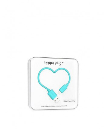 Happy Plugs Charge + Sync Cable (Turquoise)