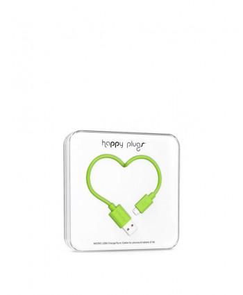 Happy Plugs Charge + Sync Cable (Green)