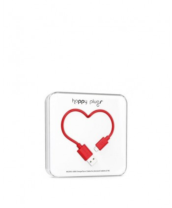 Happy Plugs Charge + Sync Cable (Red)