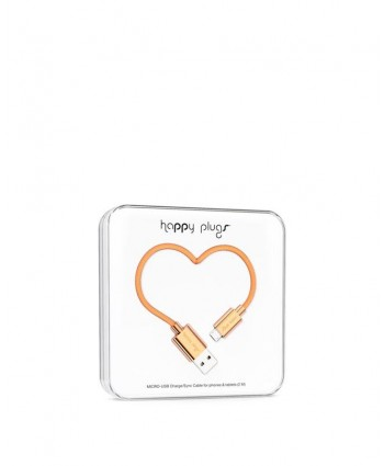 Happy Plugs Charge + Sync Cable (Rose Gold)