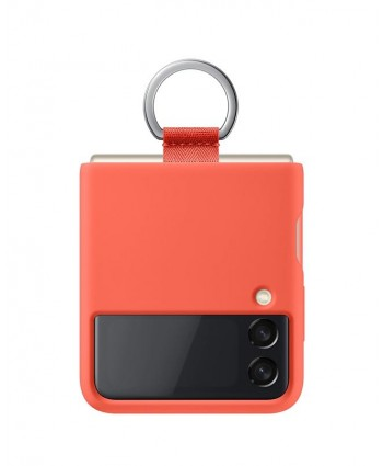 Samsung Galaxy Z Flip 3 Case Silicone Cover with Ring