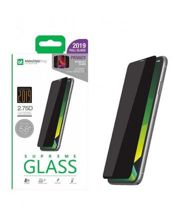 AMAZINGthing 2.75D Privacy Tempered Glass for iPhone 11 Pro / Xs / X