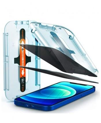 Spigen iPhone 12 / iPhone 12 Pro Glas.tR EZ Fit Privacy (2-Pack)