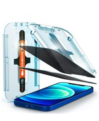 Spigen iPhone 12 Pro Max Glas.tR EZ Fit Privacy (2-Pack)