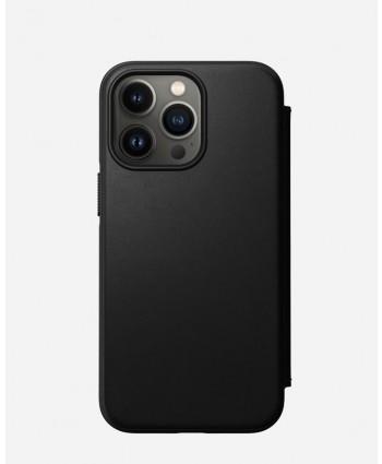Nomad iPhone 13 Pro case Modern Leather Folio (Black)