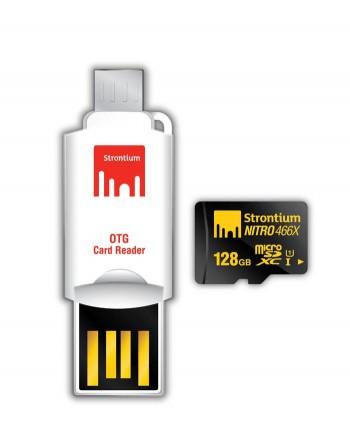 Strontium 128GB NITRO MicroSD with OTG Card Reader