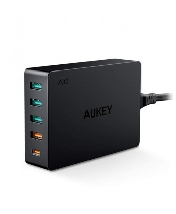 Aukey PA-Y23 USB-C 63W 5-Port PD Charging Station
