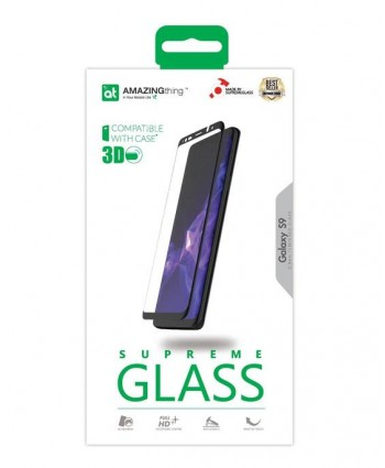 AMAZINGthing Samsung Galaxy S9 3D Full Glue SupremeGlass