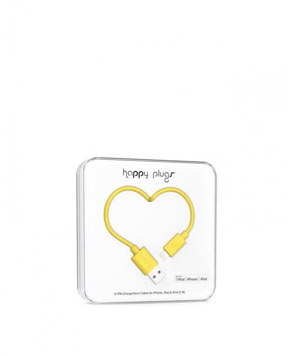 Happy Plugs Charge + Sync Cable (Yellow)