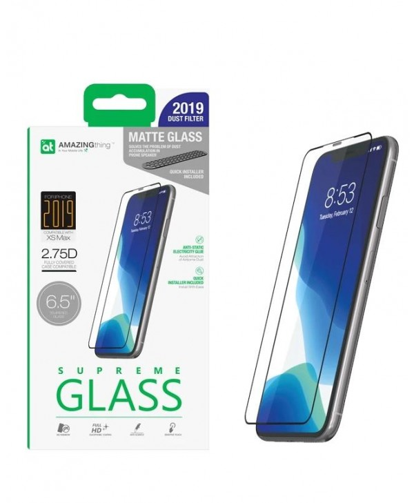 AMAZINGthing 2.75D Matte Tempered Glass for iPhone 11 Pro Max / XS Max