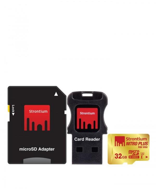 Strontium 32GB MicroSDHC UHS-1 U3 NITRO Plus CARD
